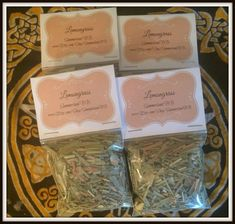"""Lemongrass Magickal Herb ~ Focusing Herb ~ Mental Clairity Herb ~ Incense ~ Spells ~ Wicca ~ Witch ~ Pagan ~ 3"""" x 3"""" Bag by SummerlandBB on Etsy"""