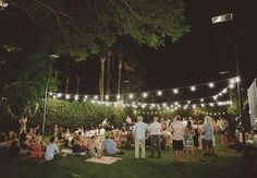 A fun backyard wedding. *Would be awesome to set-up an outdoor movie for the kids.