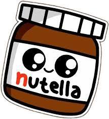 Resultado de imagem para kawaii nutella png