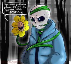 A funny guy like you ||| Flowey and Sans ||| Undertale Fan Art by BamSaraKilledYou on DeviantArt