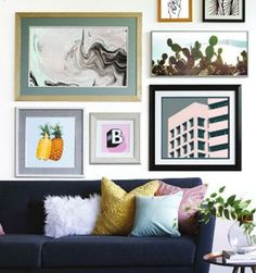 Decorate your urban loft with modern, contemporary prints custom framed at JOANN.