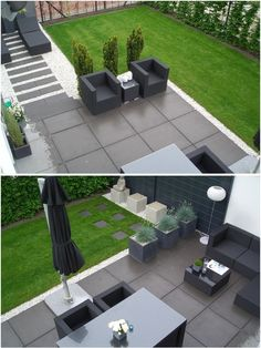 beautiful side yard and backyard gravel garden design ideas 1 Back Garden Design, Modern Garden Design, Backyard Garden Design, Patio Design, Backyard Patio, Backyard Landscaping, Exterior Design, Landscape Design, Modern Design