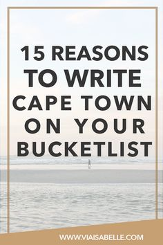 Cape Town is a world of its own! It's shocking to find a city so beautiful and as enchanting as Cape Town. Click the link above to understand why and what you can add to your bucketlist!