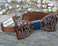 Wooden bowtieBow tie and CufflinksHandmade bowtieBow tie