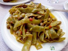Fasolakia (Beans and Tomatoes) in Crete by uncorneredmarket. Not all the dishes in this post are vegetarian but there are plenty of meat-free options.