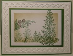 Lovely Christmas Lodge Birds by ChelleSnow - Cards and Paper Crafts at Splitcoaststampers