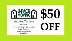 Visit www.movinghelpcenter.com to get 15% Off Budget Truck Rental, $50 Off Portable Storage Rental through U Pack or 5% Off Local Move and Storage through Pack Rat.