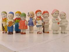 Vintage-Bisque-Doll-Figurine-set-of-9-Dolls