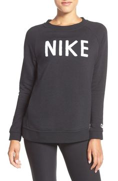 Nike Logo Crewneck Terry Sweatshirt available at #Nordstrom