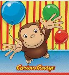 These paper luncheon napkins feature Curious George with arms wide open, ready to give your little boy or girl a big birthday hug. Curious George Luncheon Napkins coordinate with other Curious George theme table decorations and birthday party suppli Monkey Birthday Parties, Girls Birthday Party Themes, Little Girl Birthday, 16th Birthday, Birthday Bash, Curious George Party, Curious George Birthday, Curious George Characters, Curious George Invitations
