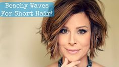 I just uploaded a brand new hair tutorial on my channel! Beachy waves are all the rave and perfect for Spring. This look is easy to create on shorter hairstyles with just a few tools. Watch the new vi (Hair Tutorial Videos) Short Hair Waves, How To Curl Short Hair, Curling Iron Short Hair, Flat Iron Short Hair, Long Hair, Short Hairstyles For Women, Trendy Hairstyles, Beach Hairstyles, Bride Hairstyles