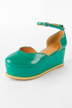 Triumph Patent Flatform Shoes in Mint Green $28 at www.tobi.com
