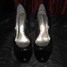 """Heels BCBGirls Black patent leather Pumps. The heel measures 4 1/2"""" high. Very comfy for heels. Great condition. BCBGirls Shoes Heels"""