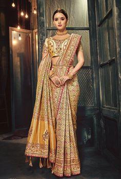Heavy Work Designer Wedding Saree Indian Bridal Party Wear Banarasi Sari OL11