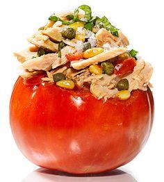 Tuna filled tomato!!