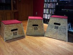 Diy 3 in 1 wood plyo box for 35 fitness tutorials for Plyo box template