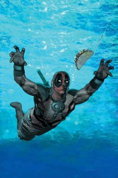 deadpool. @Anna Marie Ridenour!!! he can come to Mexican Thanksgiving!!! XD