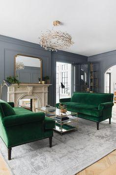 Emerald Sofas, Victorian feeling living room
