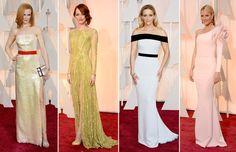 ¡Impresionantes diseños! Nicole Kidman Louis Vuitton,, Emma Stone en Elie Saab, Reese Witherspoon en TOM FORD y Gwyneth Paltrow en Ralph & Russo Couture.
