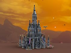 Das Bild zeigt das LEGO-Set zu Hyrule Castle aus Breath of the Wild. Lego Super Mario, The Legend Of Zelda, Minecraft House Tutorials, Minecraft Houses, Breath Of The Wild, Lego Sets, Lego Zelda, Calamity Ganon, Lego Creative