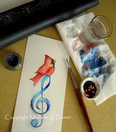 Michelle Palmer: Watercolor originals little tutorial