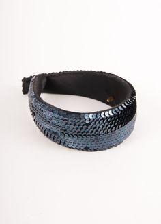 CHANEL Black Sequin Embellished Thick Headband – Luxury Garage Sale