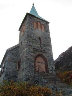 grense jakobselv #norway #scandinavia #church Concrete, Stone, Places, Landscapes, Travel, Rock, Stones, Batu, Lugares