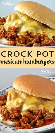 These Crock Pot Mexican Hamburgers are a delicious and easy way to beat the dinnertime blahs!