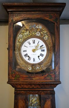 19thC French Country Comtoise Longcase Clock, £525.00