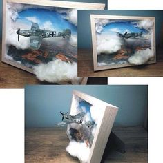 Spitfire IXc By: Lengyel Dávid From: Love Scale Models . Miniature Crafts, Miniature Fairy Gardens, Scale Models, Art Jouet, Fun Crafts, Diy And Crafts, Military Modelling, Steampunk Lamp, Military Diorama