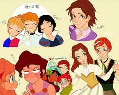 CUTE Disney Genderbend!