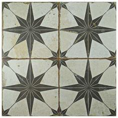 "Royalty 17.63"" x 17.63"" Ceramic Field Tile in Beige/Gray"