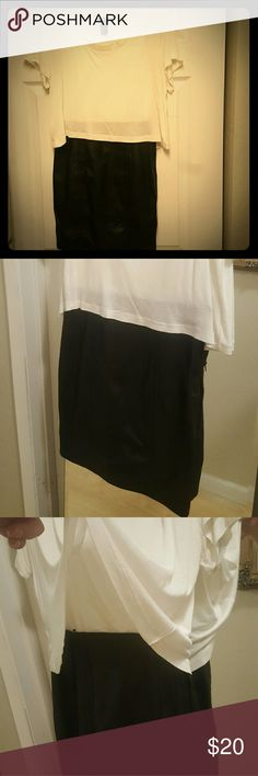 T-shirt Skirt Dress It looks like 2 pieces but is ONE! T-shirt top attached to pleather skirt with zipper on side/hip H&M Dresses Mini