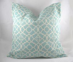 Your place to buy and sell all things handmade - #buy #handmade #Place #sell #tiffanybluebedroom - Decorative Pillow Cushion Cover – Accent Pillow – Throw Pillow – Waverly – Lovely Lattice Tiffany Blue – 18 x 18 Inch – Indoor Outdoor $28.00