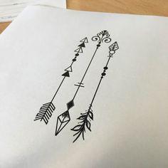 diseña tu propio tatuaje de flechas