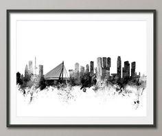 Rotterdam Skyline Rotterdam The Netherlands Cityscape by artPause