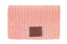 Salmon and White Speckled Beanie