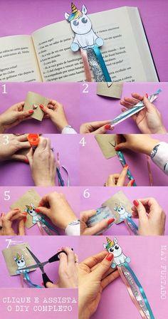 DIY marcador de páginas de unicórnio - fácil!