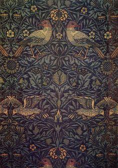 Bird textile design released in 1878