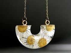 Real Daisy Flowers Necklace
