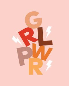 GRL PWR - GIRL POWER (Feminism typography block design) Throw Pillow by Teesha + Derrick - Cover x with pillow insert Photo Wall Collage, Picture Wall, Poster Mural, Les Beatles, Feminist Quotes, Feminist Art, Story Instagram, Happy Words, Lettering