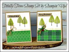 totally-trees-two-cards by Sandi @ www.stampinwithsandi.com