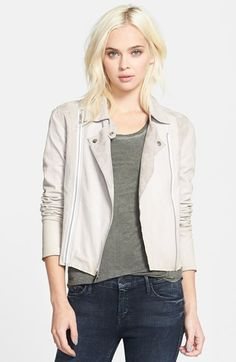 Paige Denim 'Silvie' Suede & Leather Moto Jacket - Fun fall to winter or Winter to spring jacket