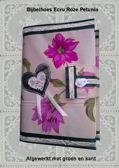 Bijbelhoezen : Bijbelhoes Ecru roze petunia vanaf € 4,-