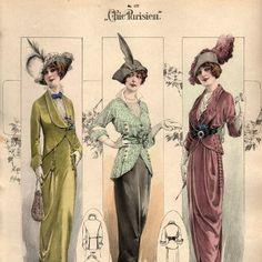 1913 April, Chic Parisien, jacket styles and belts