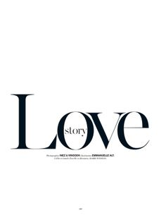 Love Story | Vogue Paris, December 2013