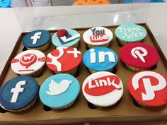 social media cupcakes - Google Search