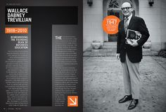 Magazine Design for Clemson's The Exchange Magazine -- transparency -- layering shape with photo subject