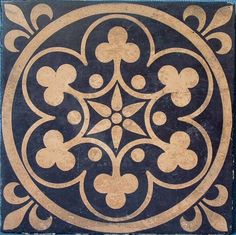Gothic revival encaustic tile More click the image or link for more info. Stencil Patterns, Stencil Designs, Tile Patterns, Pattern Art, Motif Baroque, Stencils, Encaustic Tile, Tile Art, Victorian Gothic