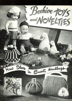 Crochet & Knit patterns: Vintage 1940's Beehive Toys Novelties Handbags Boutonnieres Dolls | eBay